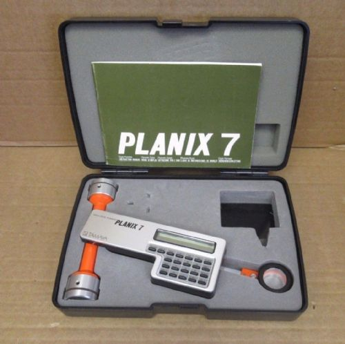 Tamaya Planix 7 Digital Planimeter 365170 And Carrying Case & Instruction Manual